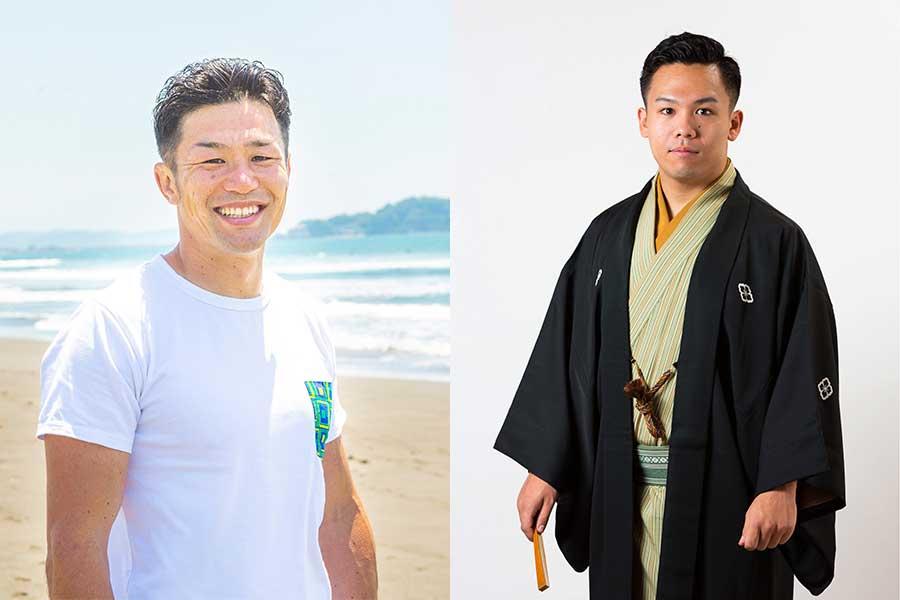 廣瀬俊朗さん(左)と林家たま平さん