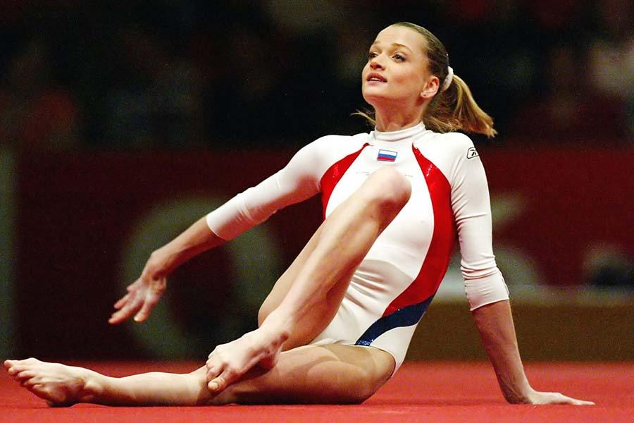 現役時代の元体操世界女王スベトラーナ・ホルキナさん【写真:Getty Images】