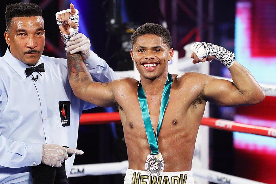 10日、TKO勝利を収めたシャクール・スティーブンソン【写真:Getty Images】