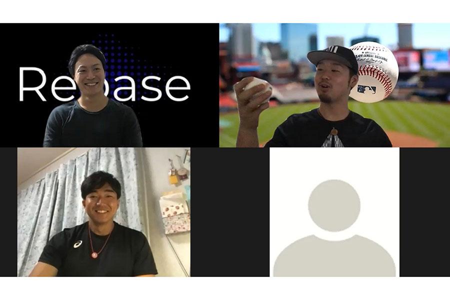 「ピッチング論」について議論を交わした「NEOREBASE」の池田氏(左上)、小山田氏(左下)、内田氏(右上)、お股ニキ氏【写真:編集部】