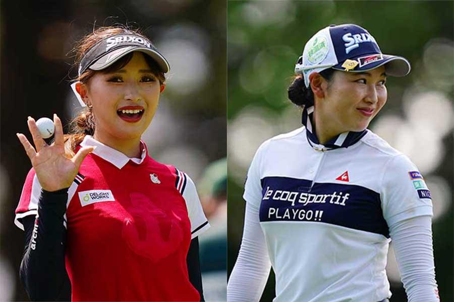 臼井麗香(左)と小祝さくら【写真:Getty Images】