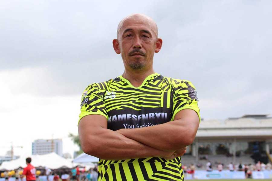 10人制ラグビーの普及に尽力する井上誠三さん【写真:本人提供】