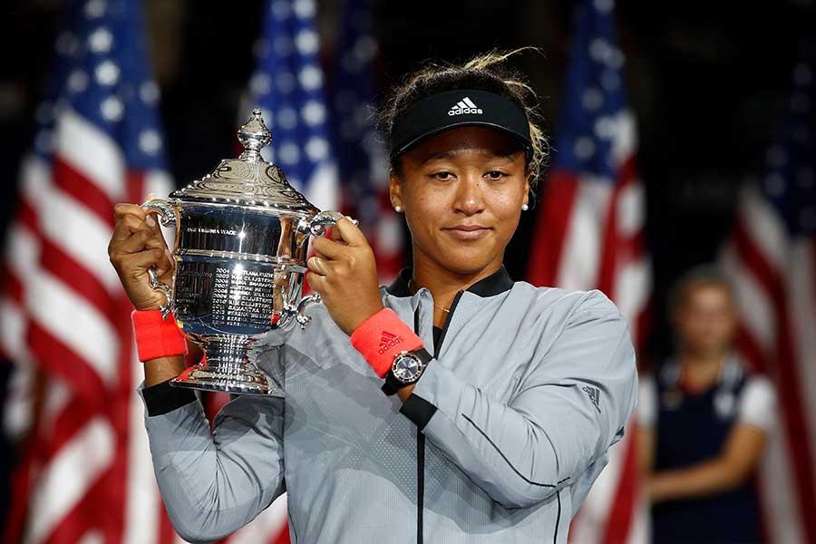 2018年の全米オープンで優勝した大坂なおみ【写真:Getty Images】