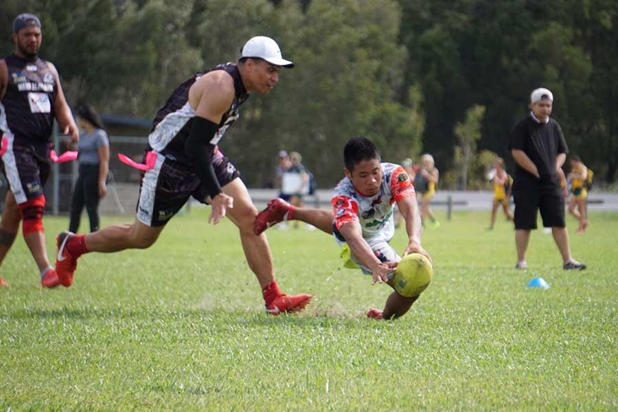 日本にタグフットボールを持ち込んだ、協会代表の岡村剛さん【写真提供:JTFA】