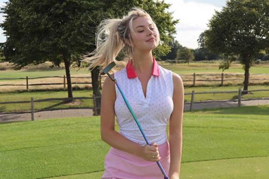 英国女子ゴルファーのルーシー・ロブソン(写真はルーシー・ロブソンのインスタグラムより)