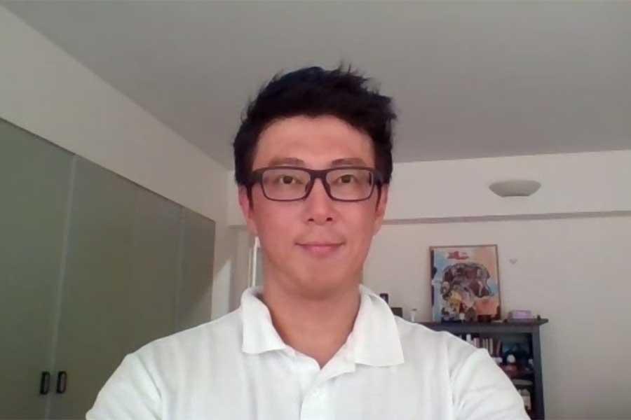 オンライン取材で日本ラクロス協会の公式戦再開決定について語った安西渉氏