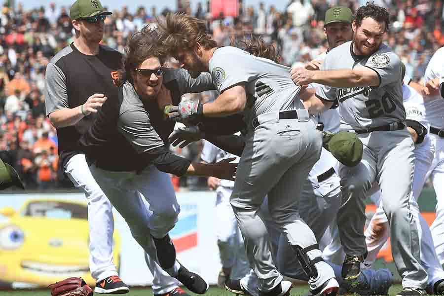 ナショナルズ-ジャイアンツの大乱闘が再び注目を集めている【写真:Getty Images】