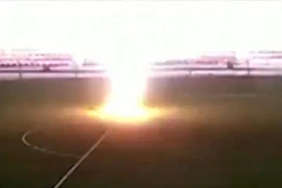 ロシアで16歳のGKを雷が直撃する事故が発生した(画像はスクリーンショット)