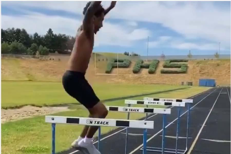 米大学陸上選手のハードル跳びが話題に(写真はスクリーンショット)
