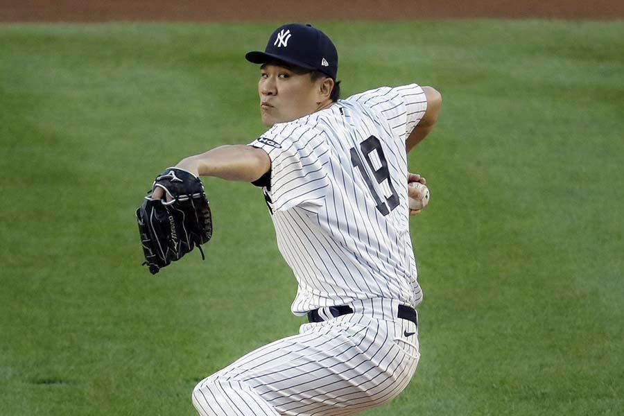 今季初先発の田中将大は3回途中で降板【写真:AP】