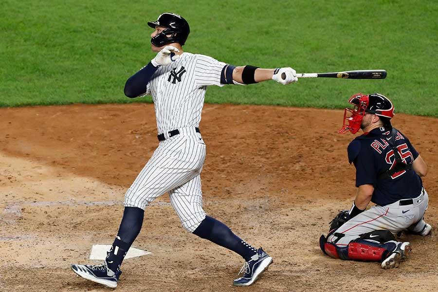 5試合連発となる5号3ランを放ったヤンキースのアーロン・ジャッジ【写真:AP】