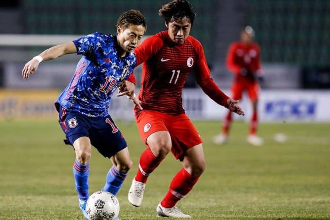 昨年、夢だった日本代表として初めてプレーした仲川【写真:Getty Images】
