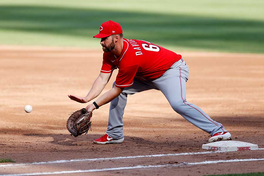 レッズのマット・デービッドソン、普段は内野手を務める【写真:Getty Images】