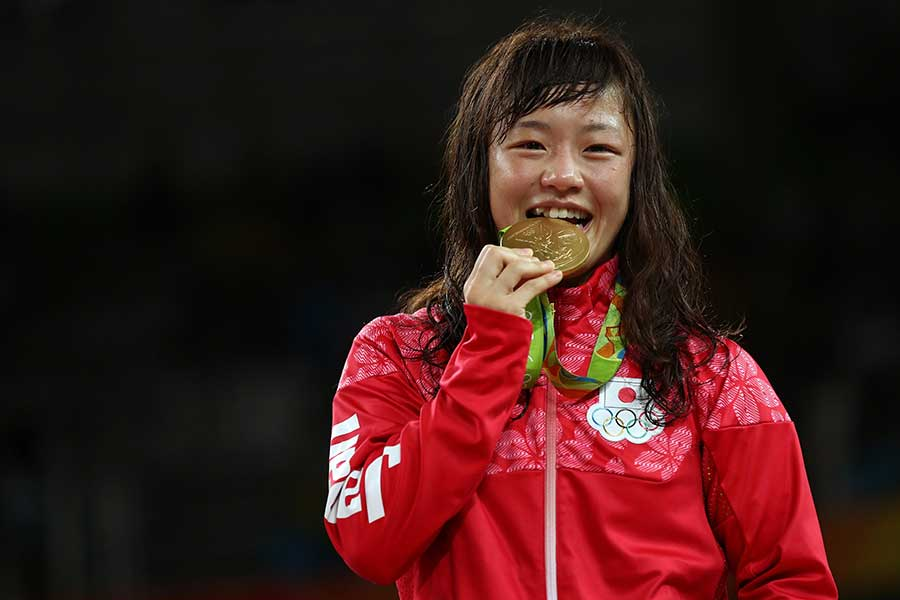 女子レスリングの登坂絵莉【写真:Getty Images】