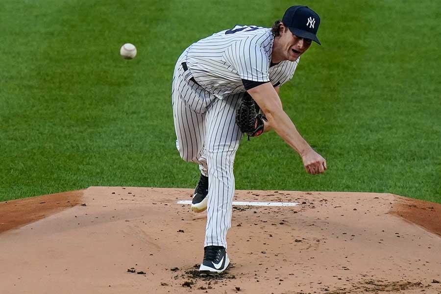 7回1失点の好投で4勝目を挙げたヤンキースのゲリット・コール【写真:AP】
