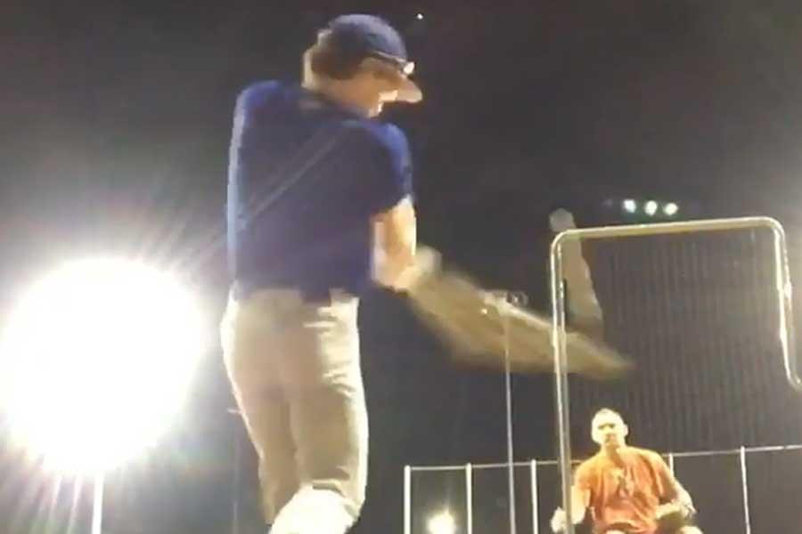 野球少年が打撃練習で放った打球が…(画像は「スポーツセンター」公式インスタグラムより)