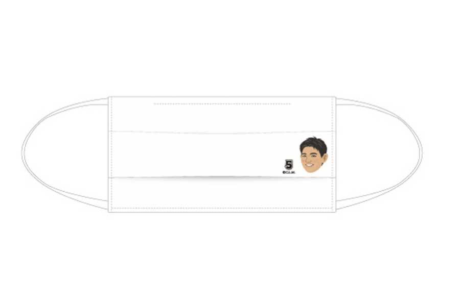 ロッテ・安田の選手キャラクター絹マスク【写真:球団提供】