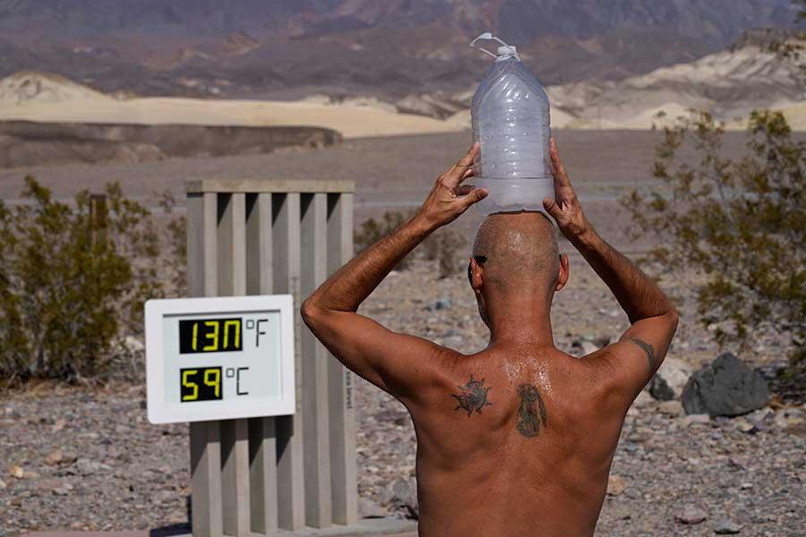 """""""世界一暑い""""場所として知られる米カリフォルニア州のデスバレー【写真:AP】"""