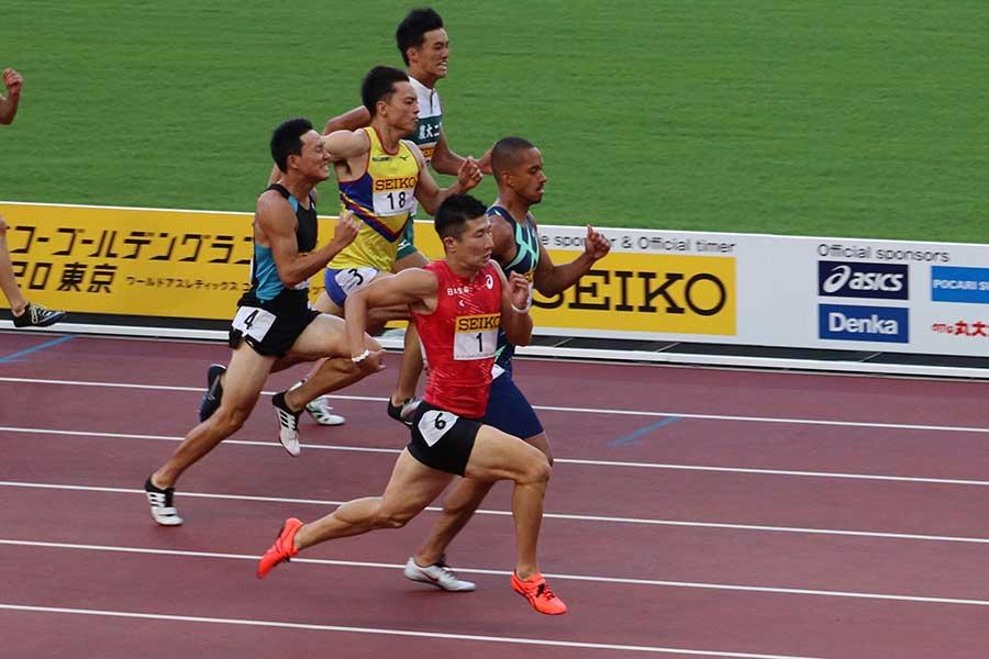 桐生祥秀が10秒14で優勝した【写真:浜田洋平】