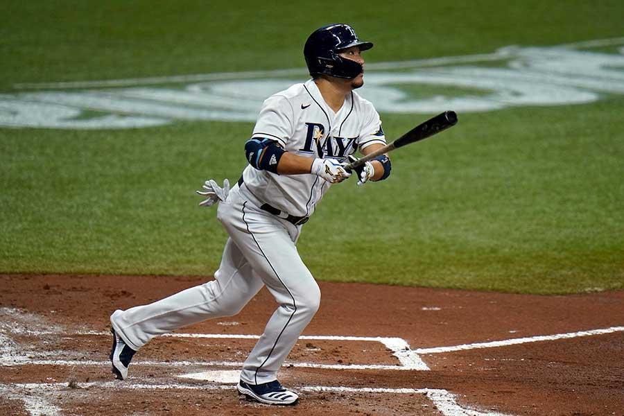 4号本塁打を放った筒香嘉智【写真:AP】