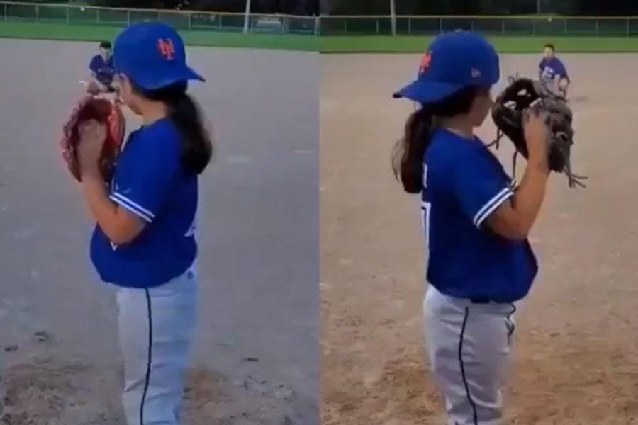 9歳少女の投球が話題を呼んでいる(画像は「Baseball For All」公式ツイッターより)