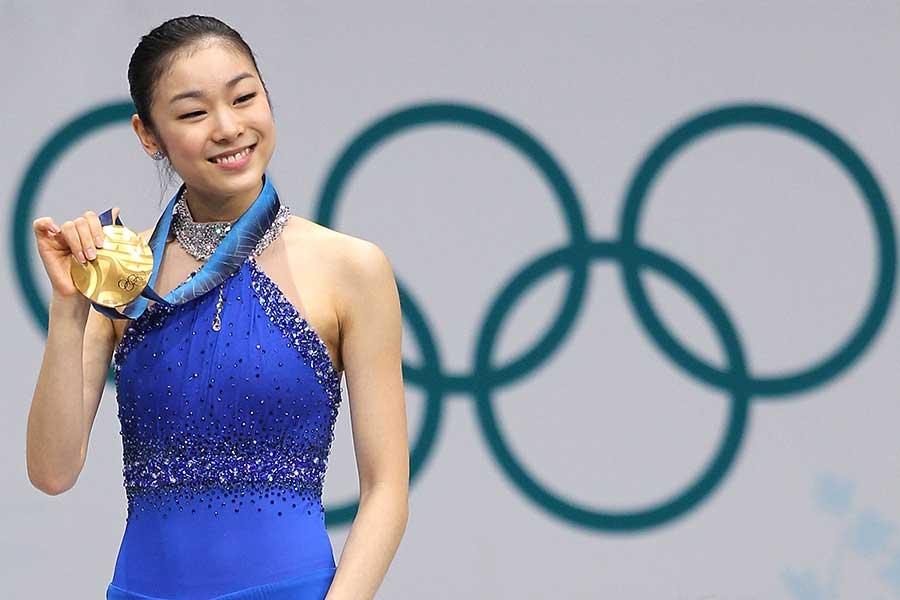 現役時代、バンクーバー五輪で金メダルを獲得したキム・ヨナさん【写真:Getty Images】