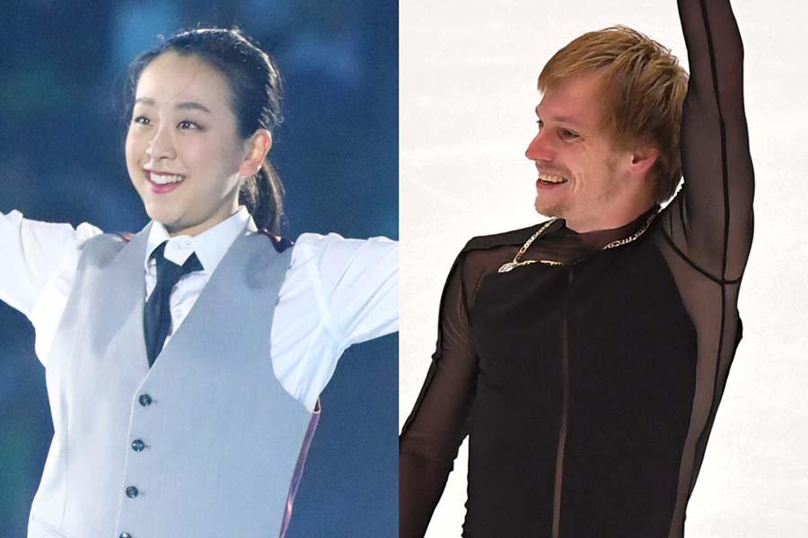 浅田真央さん(左)とセルゲイ・ボロノフ【写真:Getty Images】