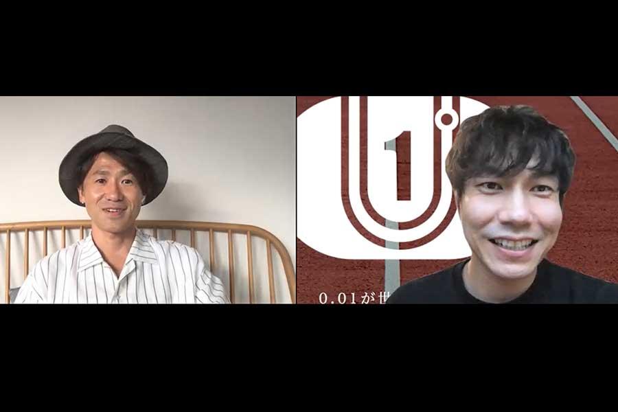 ナオト・インティライミさんと伊藤友広さん(右)
