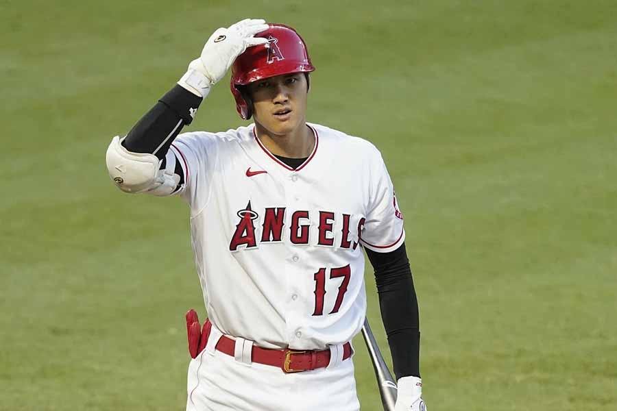 大谷翔平の22号本塁打の三塁側からの映像が話題だ【写真:AP】