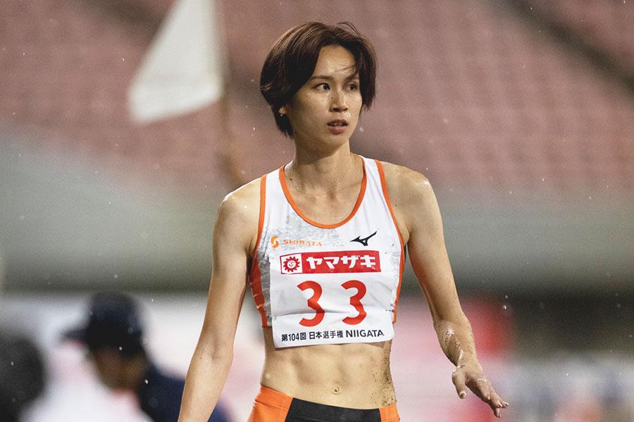 女子走り幅跳びで3位に終わった秦澄美鈴【写真:奥井隆史】