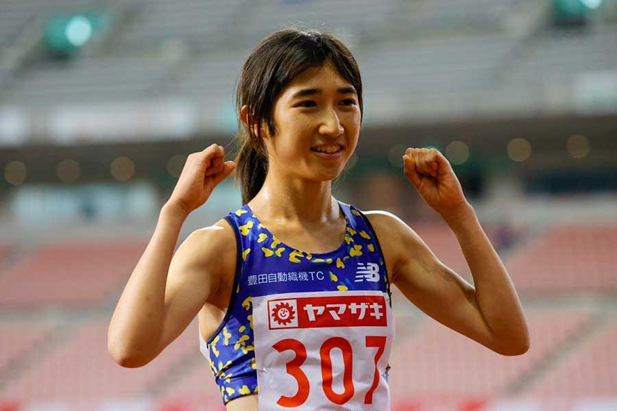 女子1500メートル決勝で優勝した田中希実【写真:奥井隆史】