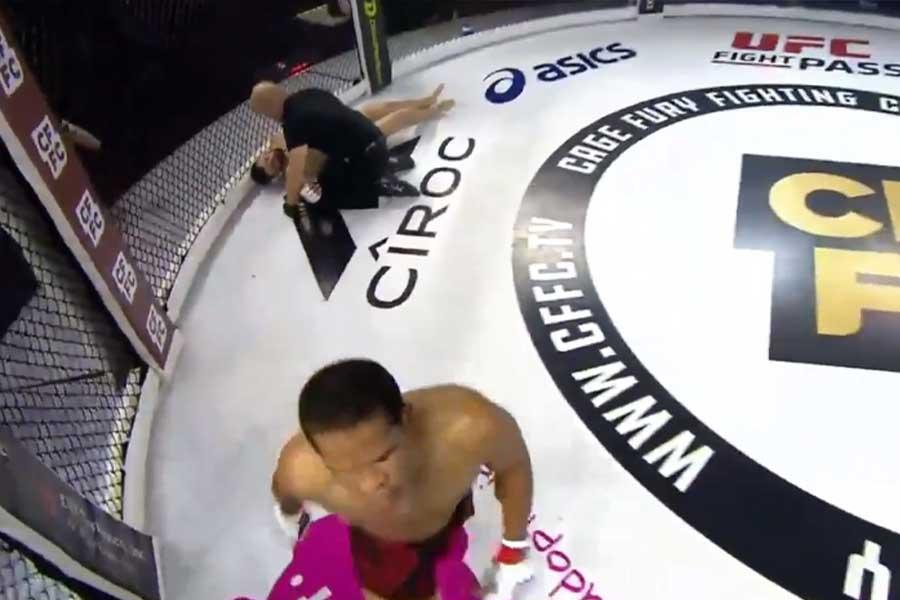 パリス・アーティスがライアン・リズコに初回KO勝ちした(写真は「UFCファイトパス」の公式ツイッターより)