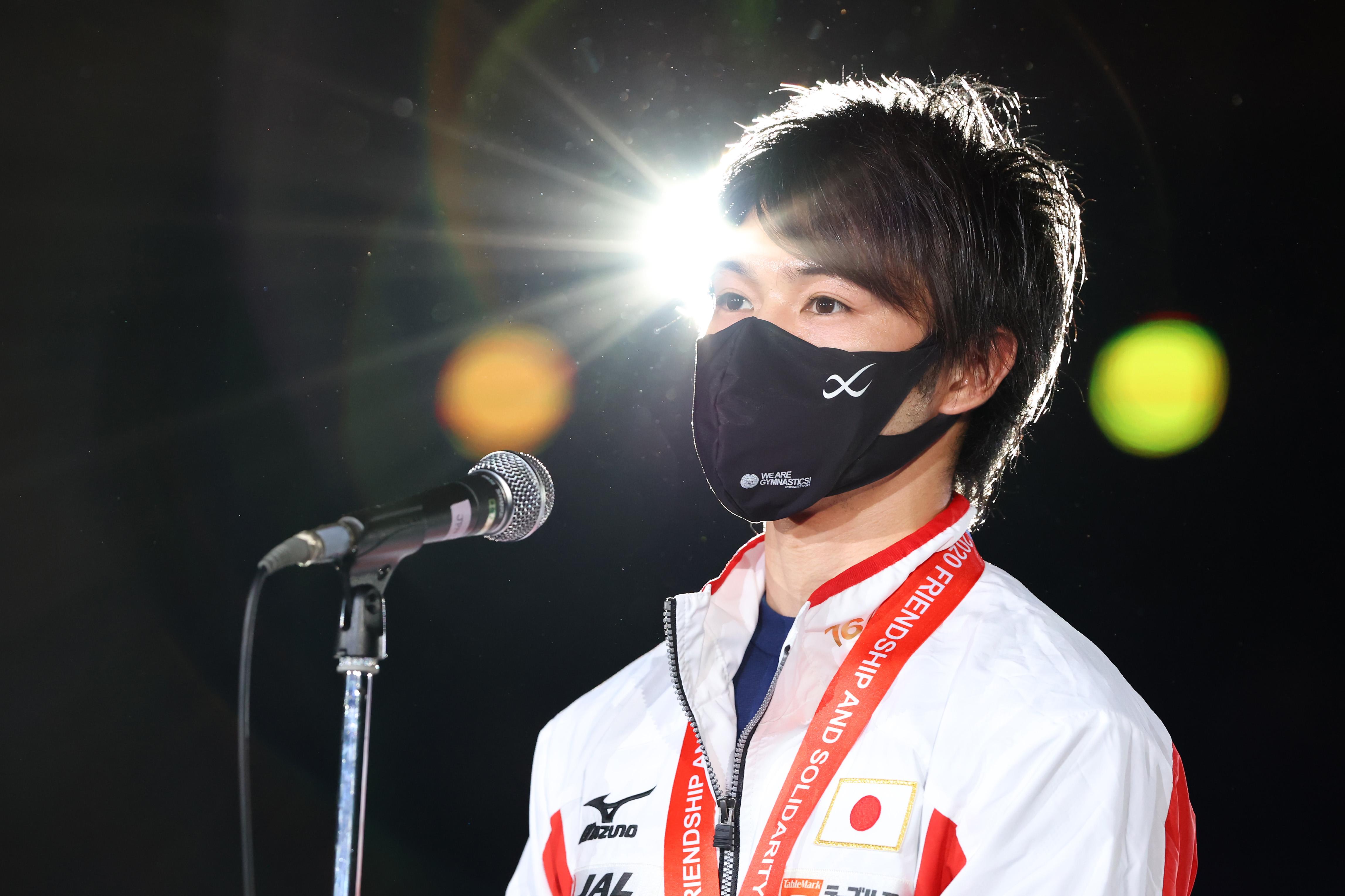 閉会式のスピーチで本音を語った内村航平【写真:(C)Photo by AFLO SPORT】