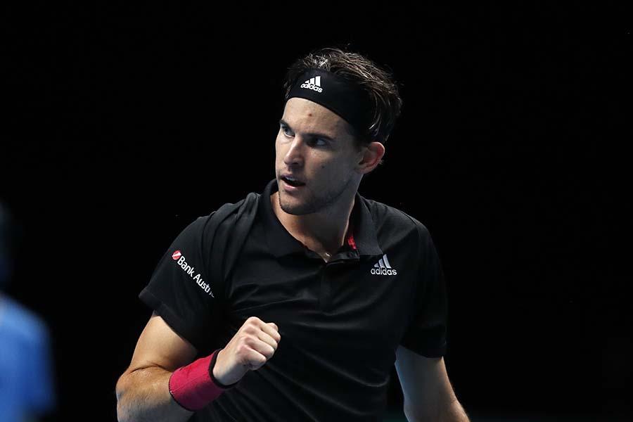 ATPファイナルズ決勝進出を決めたドミニク・ティエム【写真:AP】