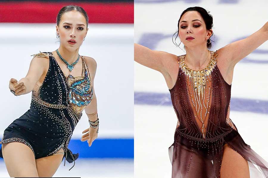 アリーナ・ザギトワ(左)とエリザベータ・トゥクタミシェワ【写真:Getty Images,AP】