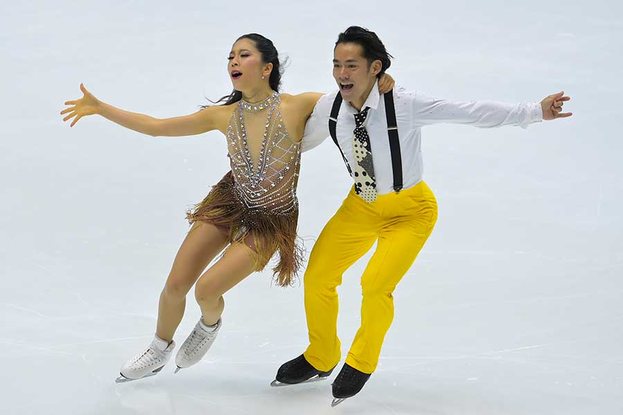 アイスダンスのリズムダンスで2位となった村元哉中、高橋大輔組【写真:Getty Images】