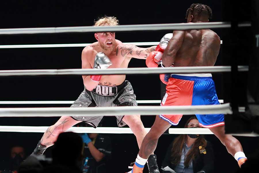 KO勝ちした人気YouTuberのジェイク・ポール【写真:AP】