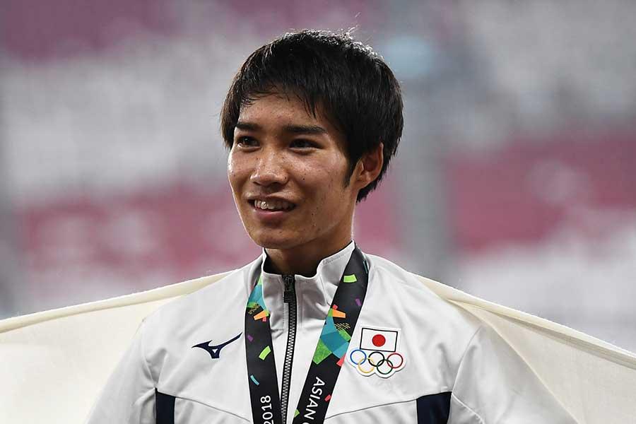 2018年のアジア大会には日本代表として出場した塩尻和也【写真:Getty Images】