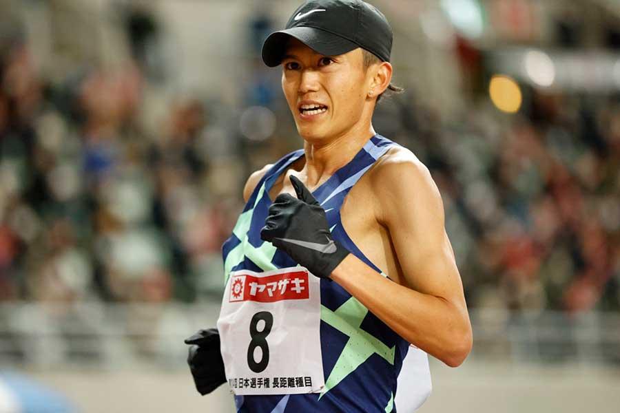 日本選手権、男子1万メートルで6位だった大迫傑【写真:奥井隆史】