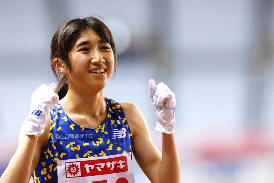 日本選手権女子5000メートルで優勝し、東京五輪代表に内定した田中希実【写真:奥井隆史】