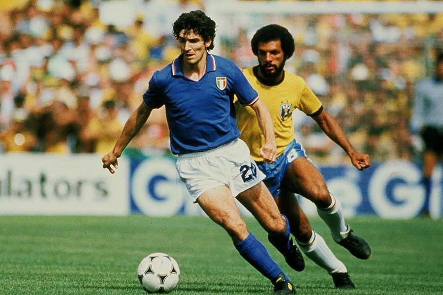 1982年スペインW杯ブラジル戦ではハットトリックを達成したパオロ・ロッシ氏【写真:Getty Images】