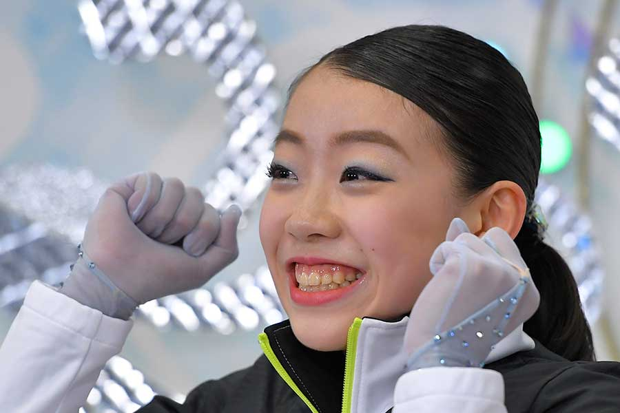 2度目の優勝を決めた紀平梨花【写真:Getty Images】