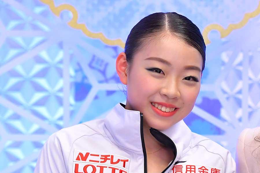 優勝を振り返った紀平梨花【写真:Getty Images】