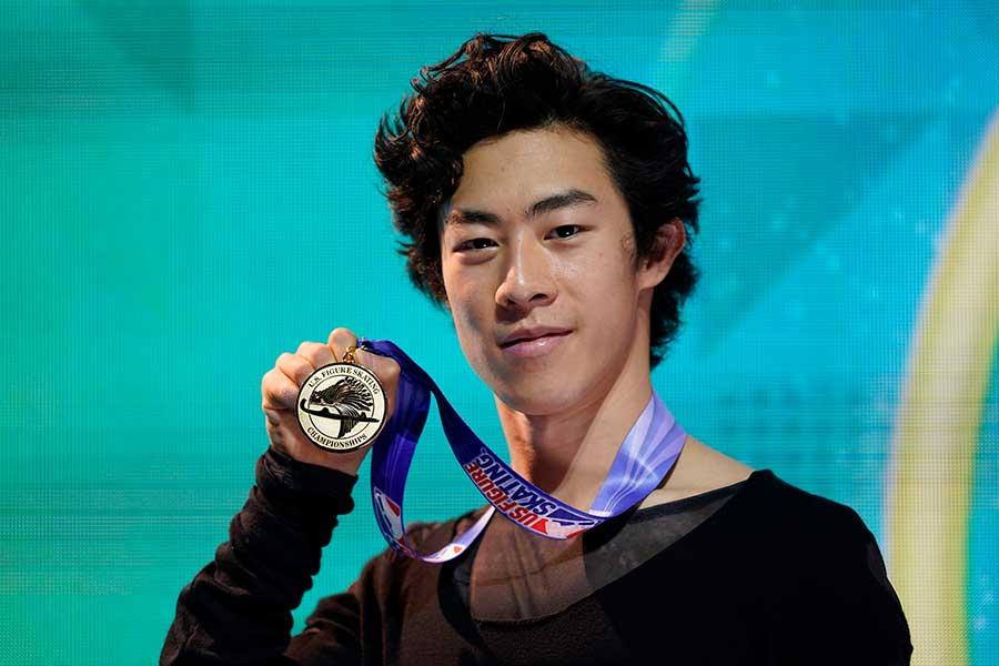 全米選手権5連覇を達成したネイサン・チェン【写真:AP】