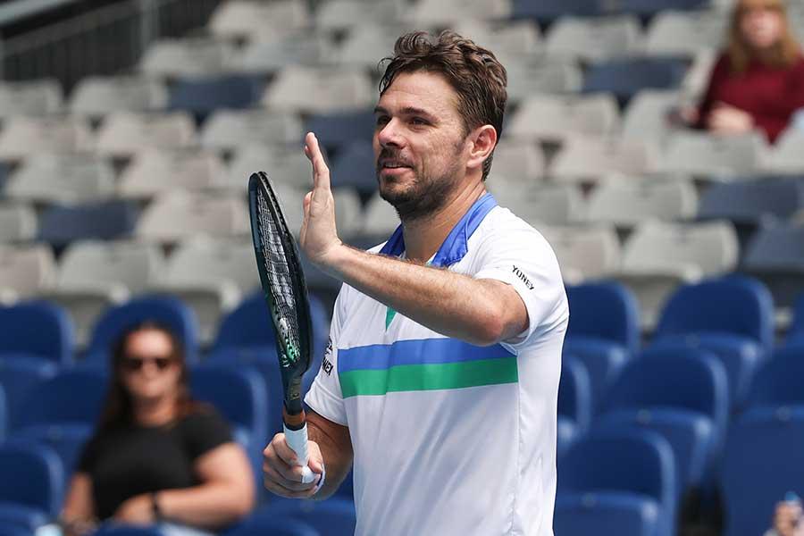 全豪オープン2回戦進出を決めたスタン・ワウリンカ【写真:Getty Images】