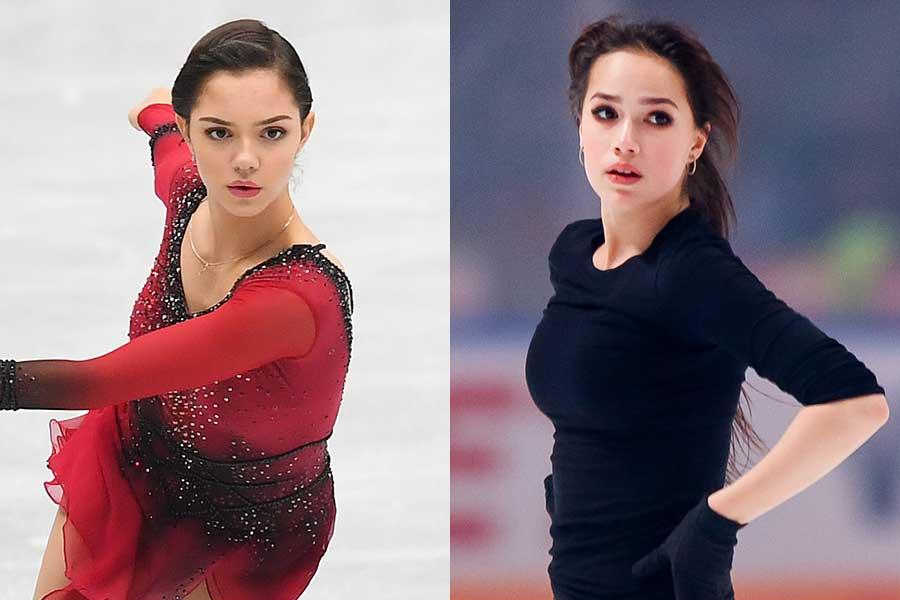 メドベージェワ(左)とザギトワ【写真:Getty Images】