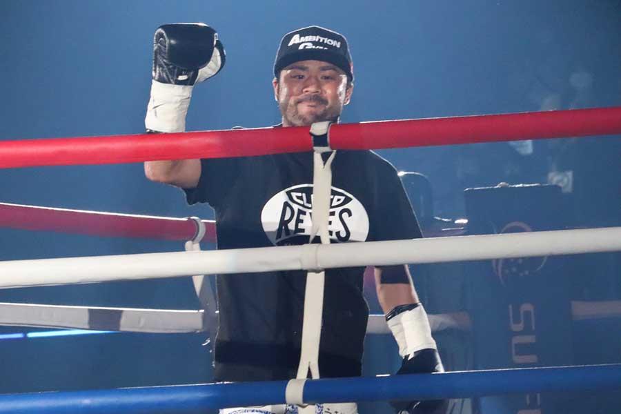 ボクシングチャリティーイベント「LEGEND」に登場した比嘉大吾【写真:浜田洋平】