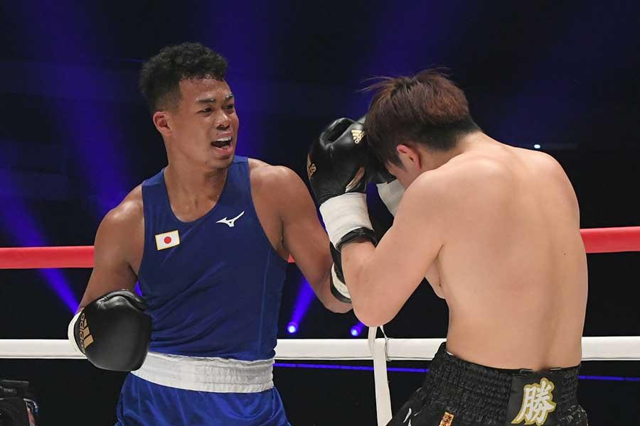 ボクシングチャリティーイベント「LEGEND」に登場した岡澤セオン【写真提供:LEGEND実行委員会】