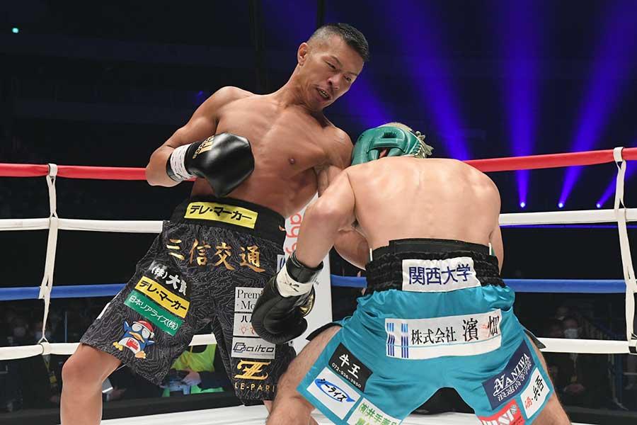 ボクシングチャリティーイベント「LEGEND」に登場した内山高志氏【写真提供:LEGEND実行委員会】