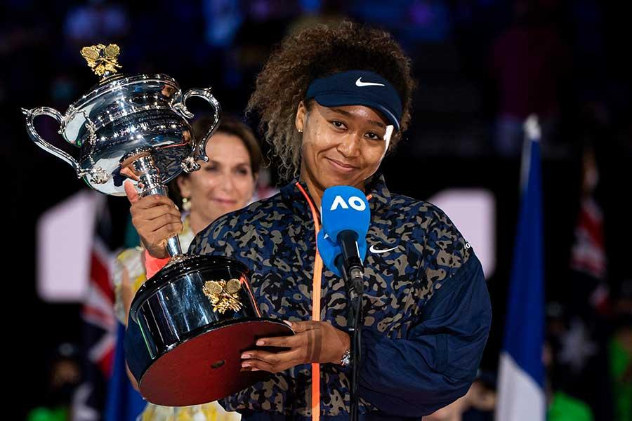 全豪オープンで2年ぶり2度目の優勝を果たした大坂なおみ【写真:Getty Images】